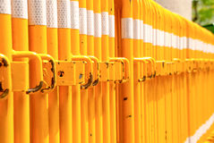Traffic barrier is long. Yellow Royalty Free Stock Photo