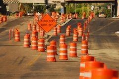 Traffic Barriers Royalty Free Stock Photos