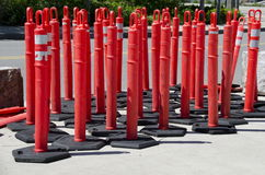 Traffic Barriers Stock Photography