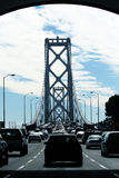Traffic on Bay Bridge Royalty Free Stock Images