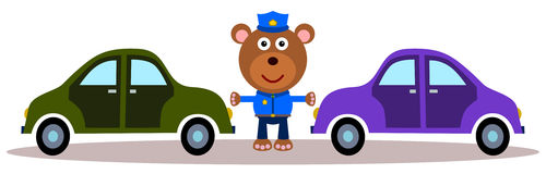 Traffic bear Stock Photography