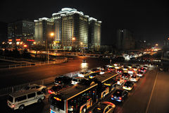 Traffic in Beijing China Royalty Free Stock Photos