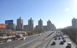 Traffic in Beijing. In China capital of Beijing city of Victoria traffic Royalty Free Stock Images