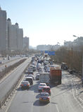Traffic in Beijing. In China capital of Beijing city of Victoria traffic Royalty Free Stock Photos