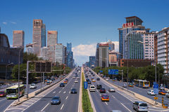 The traffic in Beijing Stock Photo