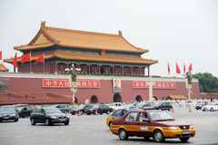 Traffic in beijing tiananmen square Stock Images