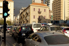 Traffic in Beirut. Traffic on a busy street in Beirut, Lebanon Royalty Free Stock Photo