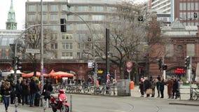 Traffic at Berlin district Mitte at Hackescher Markt. stock video