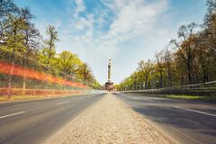 Traffic in Berlin Royalty Free Stock Photo