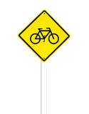 Traffic bicycle Sign on white Royalty Free Stock Photography