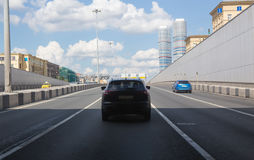 traffic in big city Stock Photo