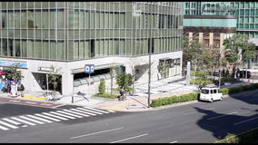 Traffic at the big street in Tokyo stock video footage