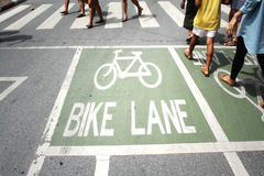 Traffic bike lane Royalty Free Stock Photography