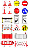 Traffic blockage objects Royalty Free Stock Photo