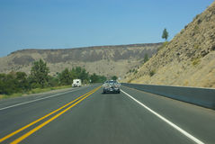Traffic blur - highway through Central Oregon Stock Images