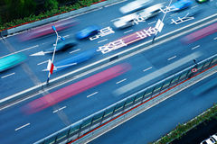 Traffic with blur motion car Stock Photography