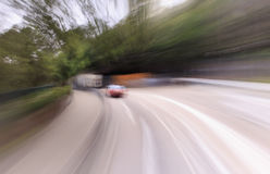 Traffic blur motions Royalty Free Stock Image