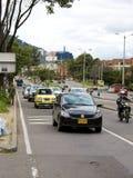 Traffic in Bogota Royalty Free Stock Photos