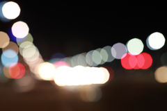 Traffic bokeh background Stock Photography