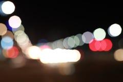 Traffic bokeh background. Seoul, Korea - Februar 2016. Nice bokeh from car lights Stock Photography