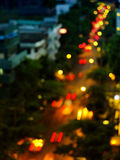 Traffic bokeh. And movement on the road Stock Photos