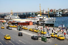 Traffic in Bosphorus port Royalty Free Stock Photography