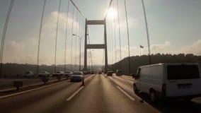 Traffic on the  Bosphorus Bridge ,Istanbul, stock video footage
