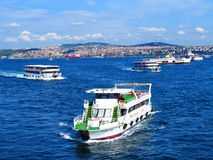 traffic  in the Bosphorus Stock Images