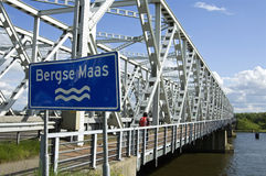 Free Traffic Bridge Keizersveer Over River Bergse Maas Stock Photo - 57209150