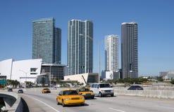 Traffic on the Bridge, Miami Royalty Free Stock Photo