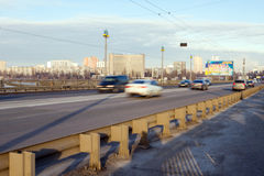 Traffic on the bridge. Stock Images