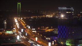 Traffic on the bridge. stock video footage
