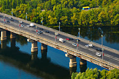 Traffic on a bridge Royalty Free Stock Photography