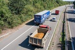Traffic on British motorway Royalty Free Stock Photos