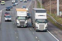 Traffic on the British motorway M1 Royalty Free Stock Photo