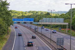 Traffic on the British motorway M5: West Bromwich,Birmingham,Uk Stock Photos