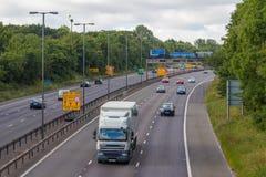 Traffic on the British motorway M5: West Bromwich,Birmingham,Uk Stock Image