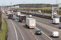 Traffic on the British motorway Stock Photos