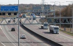 Traffic on the British motorway Stock Photo