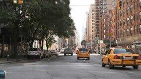 Traffic on Broadway stock video