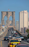 Traffic on Brooklyn Bridge. This is a shot of traffic going through brooklyn bridge Stock Image