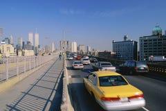 Traffic on the Brooklyn Bridge Stock Photography