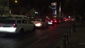 Traffic in Bucharest stock video