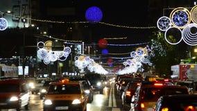 Traffic in Bucharest stock footage