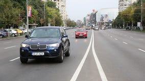 Traffic in Bucharest stock video footage