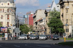 Traffic in Bucharest, Romania Stock Image
