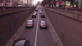 Traffic in Bucharest, Romania, March 2015 version 1 stock video footage