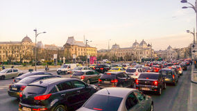 Traffic in Bucharest Royalty Free Stock Images