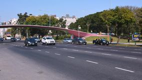 Traffic in Buenos Aires Argentina city street. Royalty Free Stock Images