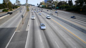 Traffic on Busy Freeway in Los Angeles - Tilt Shift. Busy 405 Freeway in Los Angeles stock video